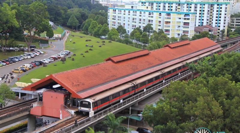 Bukit Gombak MRT Station - Aerial view