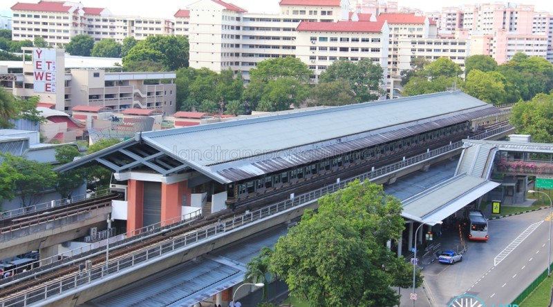 Yew Tee MRT Station - Aerial view