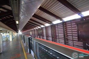 Marsiling MRT Station - Platform level noise barriers