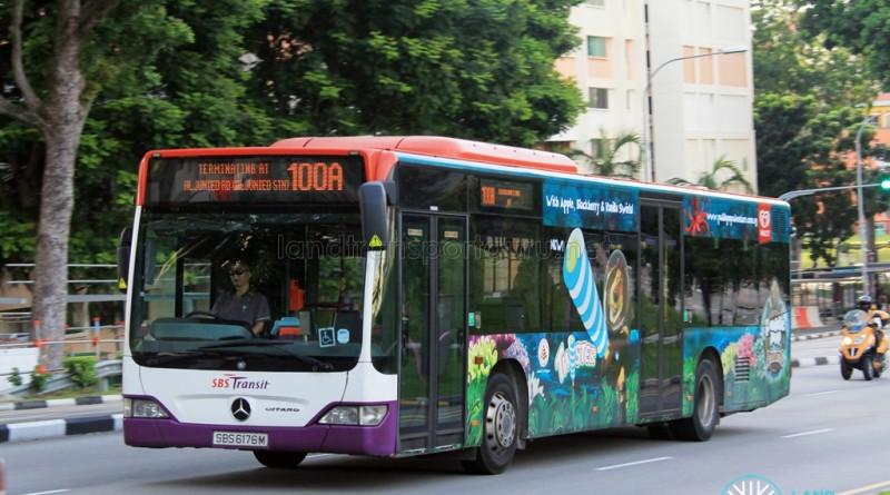 SBST Mercedes-Benz Citaro (SBS6176M) - Service 100A