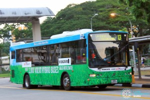 SBS Transit Volvo B5RLE Hybrid (SBS8002T) - Service 13