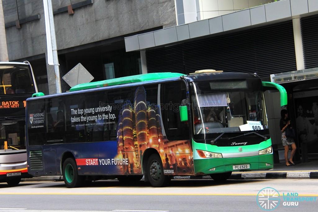Tong Tar Transport Service Zhongtong LCK6103G (PC232S) - City Direct 669