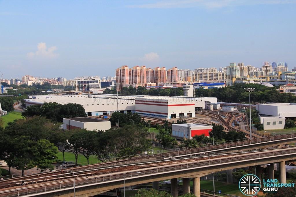 SMRT Bishan Depot - Overhead view