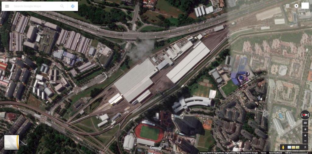 Satellite view of Bishan Depot