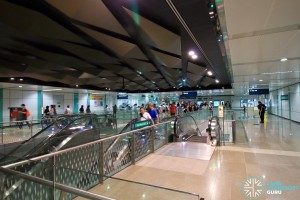 Bugis MRT Station - DTL concourse (paid area)