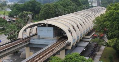 Kallang MRT Station - Aerial view