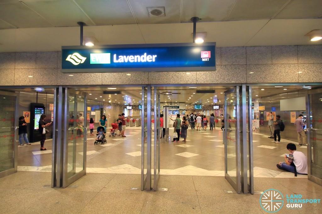 Lavender MRT Station - Underground exit