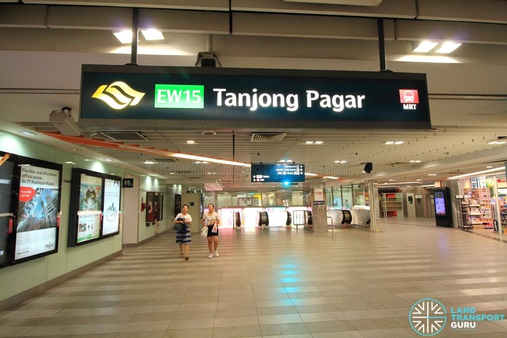 Tanjong Pagar MRT Station - Upper Concourse level