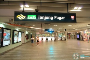 Tanjong Pagar MRT Station - Upper Concourse level