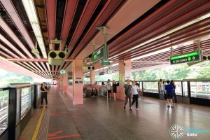 Redhill MRT Station - Platform level