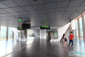 Dover MRT Station - Paid area underneath platforms