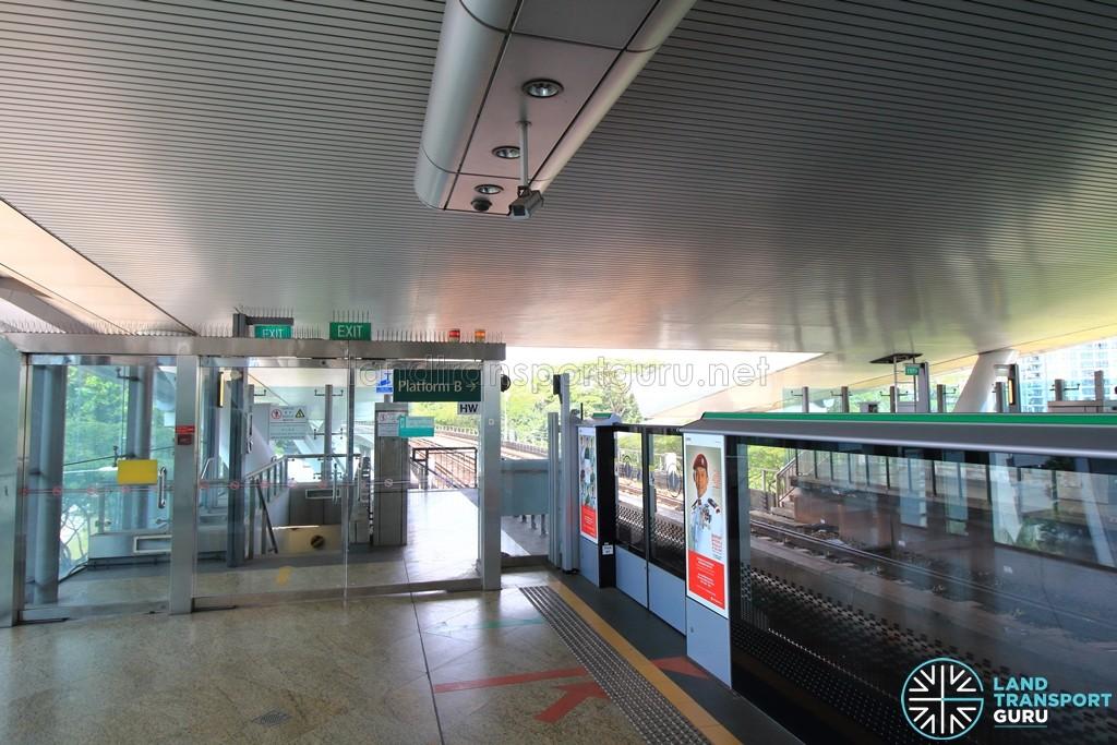 Dover MRT Station - Platform end