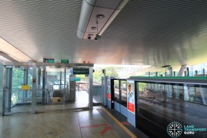 Dover MRT Station - Platform end