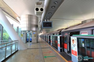 Dover MRT Station - Train at Platform A