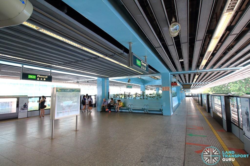 Clementi MRT Station - Platform level