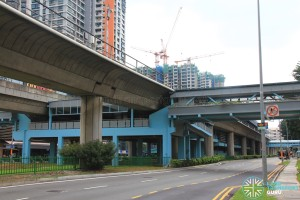 Clementi MRT Station - Exterior view (showing South Ticket Concourse)