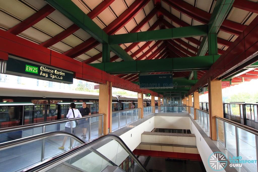 Chinese Garden MRT Station - Platform level