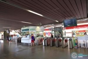 Chinese Garden MRT Station - Passenger Service Centre & Faregates