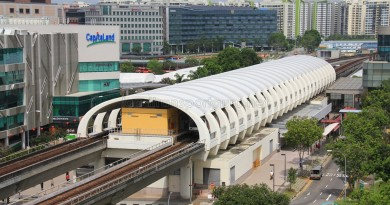 Tampines MRT Station - Aerial view