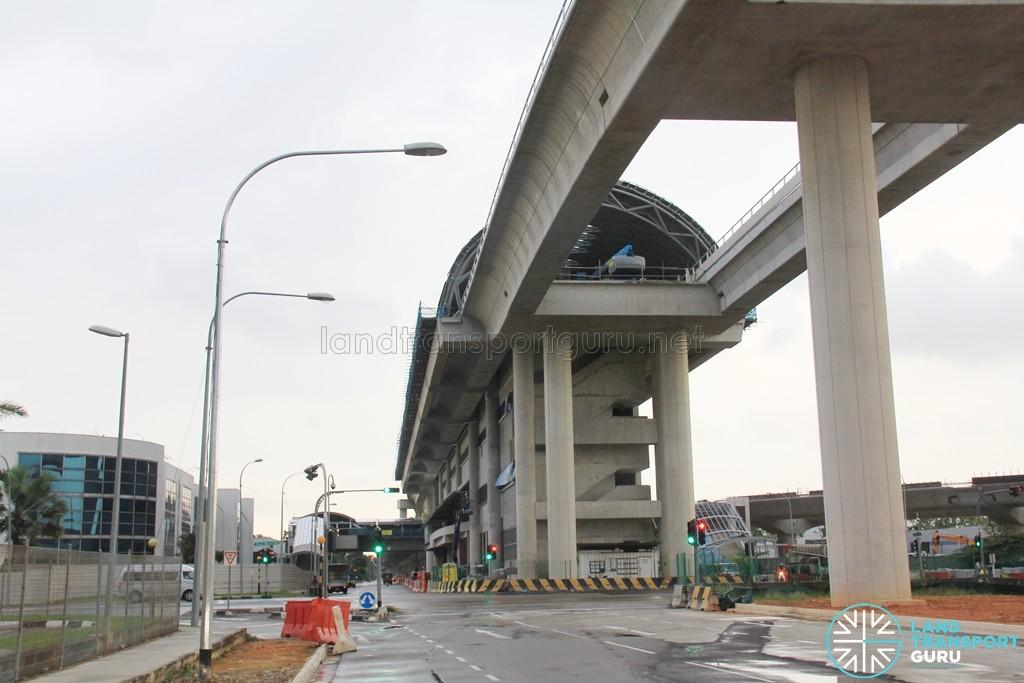 Tuas West Road MRT Station - Construction progress (March 2016)