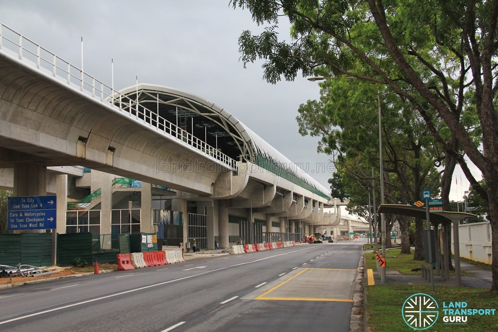 Tuas Link station as seen from the south