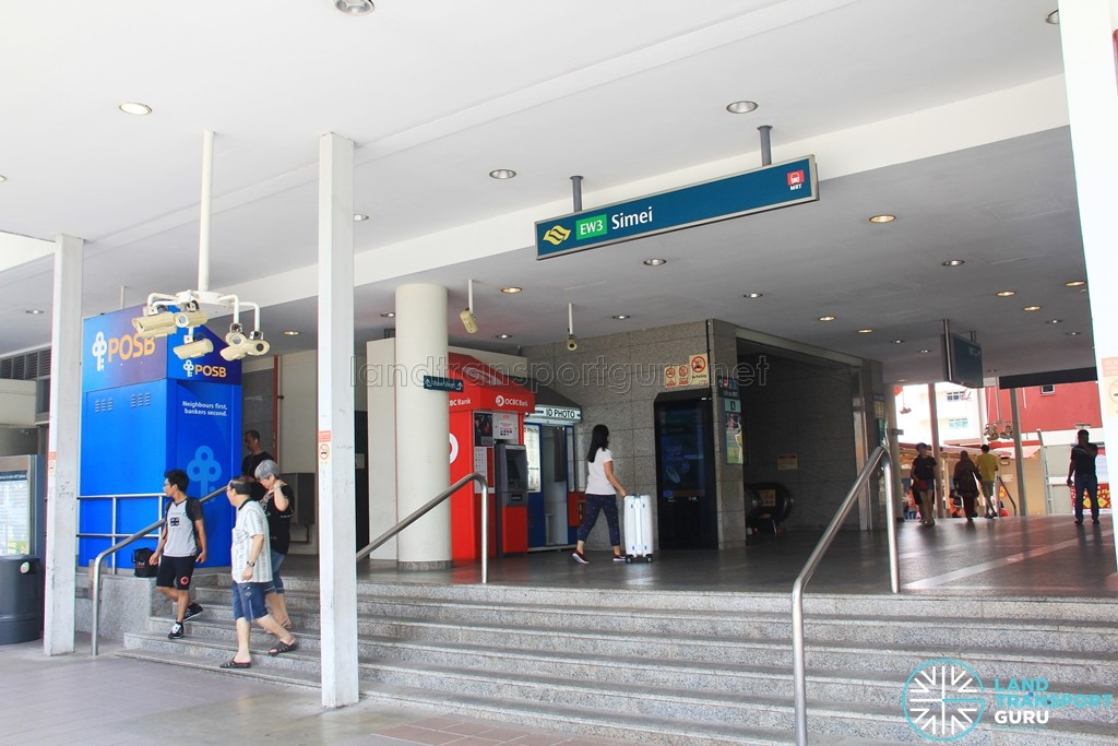 Simei MRT Station - Exit A