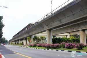 Tanah Merah MRT Station - Exterior view (from East)