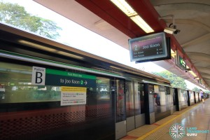 Tanah Merah MRT Station - Platform B (to Tuas Link)