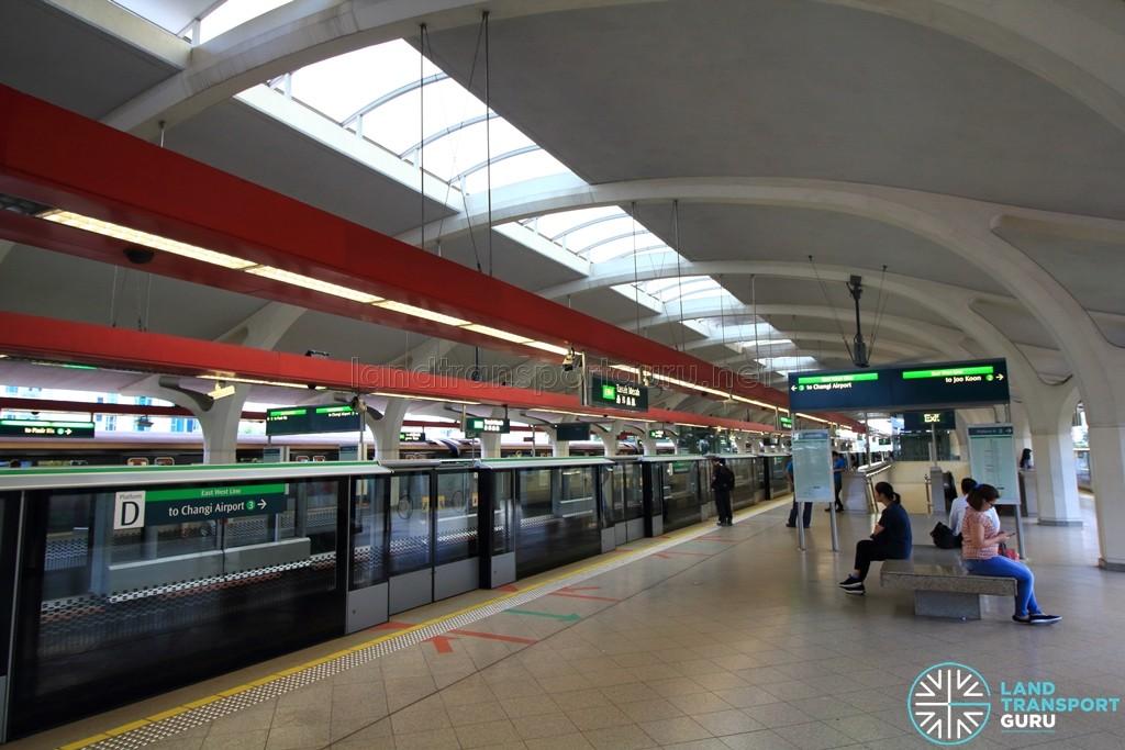 Tanah Merah MRT Station - Platform D (to Changi Airport)