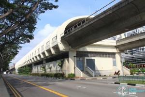 Bedok MRT Station - Exterior view