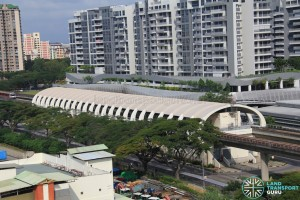 Bedok MRT Station - Aerial view