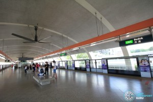 Bedok MRT Station - Platform level
