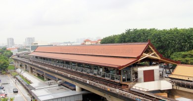 Eunos MRT Station - Aerial view