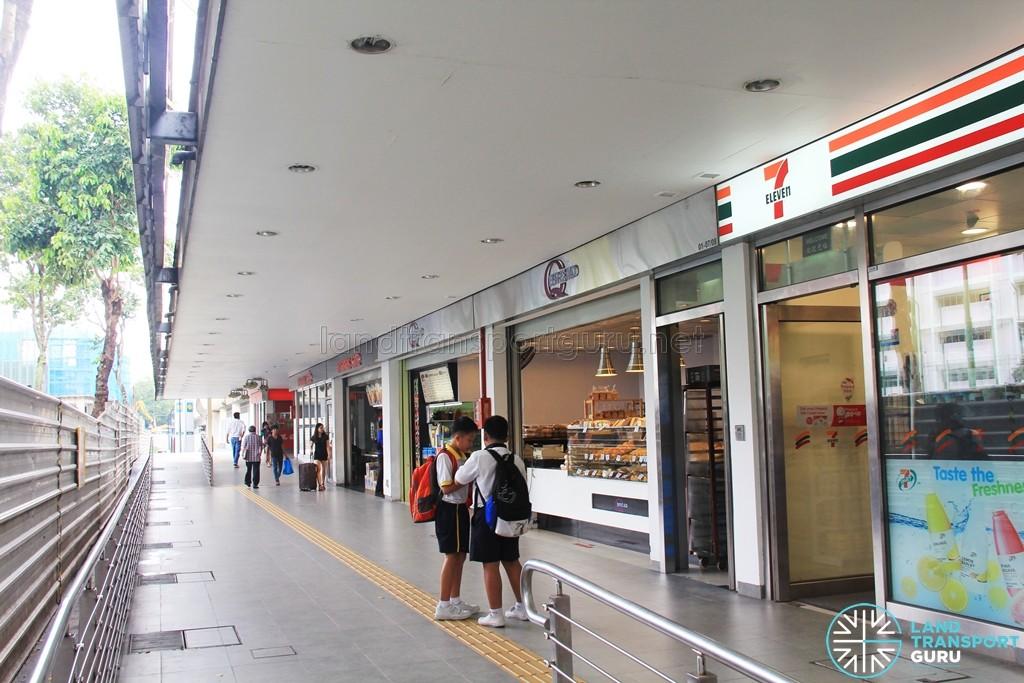 Aljunied MRT Station - Retail shops