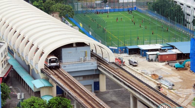 Aljunied MRT Station - Aerial view