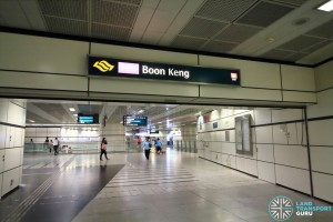 Boon Keng MRT Station - Ticket concourse