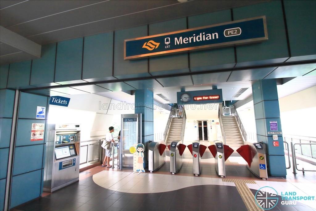 Meridian LRT Station - Concourse level faregates