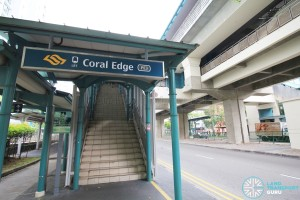 Coral Edge LRT Station - Exit A