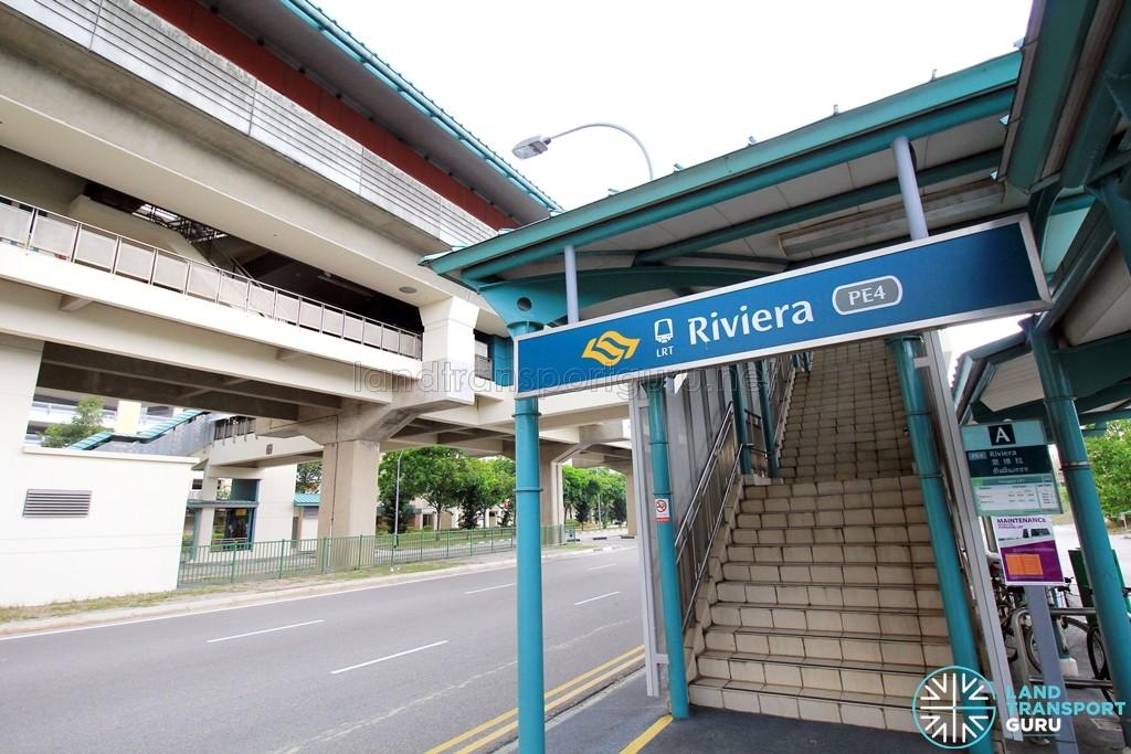 Riviera LRT Station - Exit A