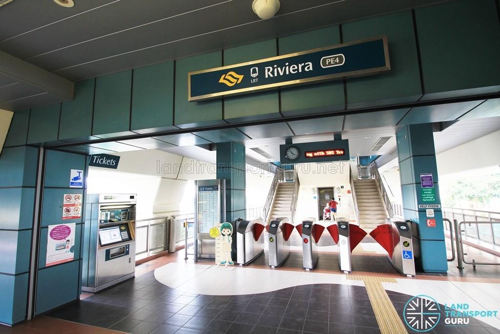 Riviera LRT Station - Concourse level faregates