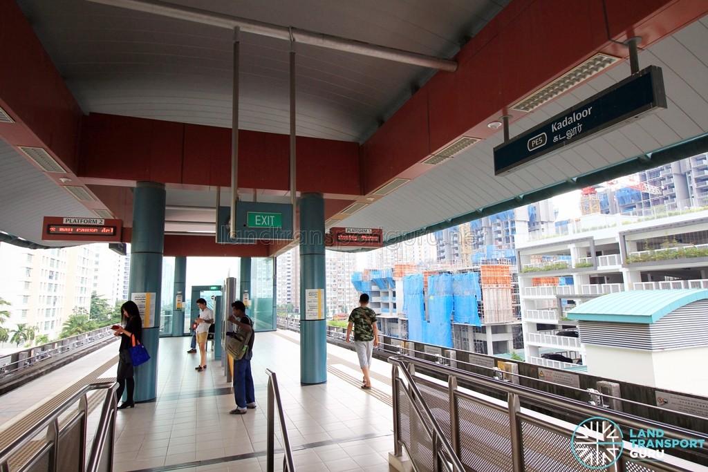Kadaloor LRT Station - Platform level