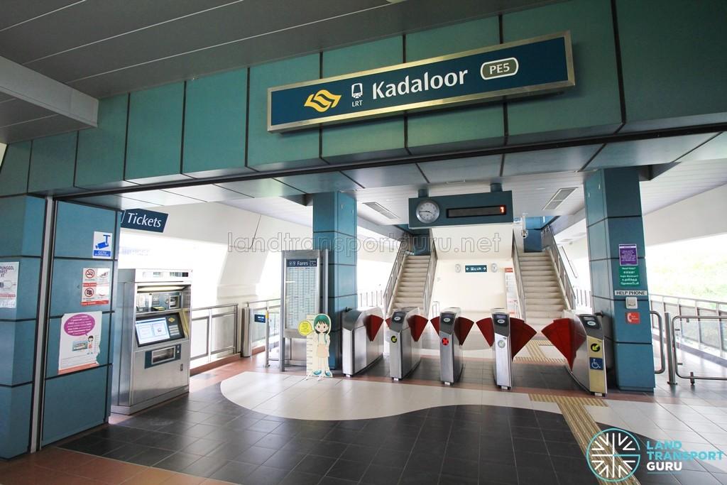 Kadaloor LRT Station - Concourse level faregates