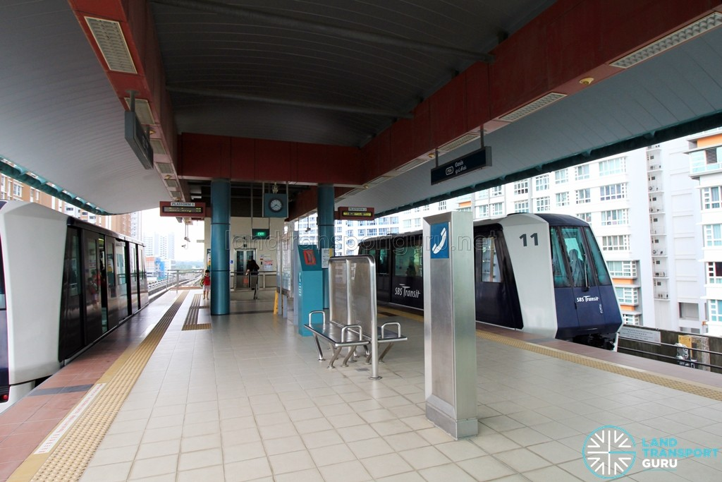Oasis LRT Station - Platform level