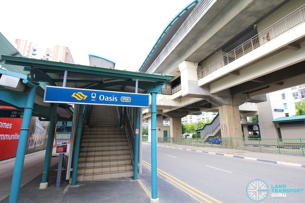 Oasis LRT Station - Exit A