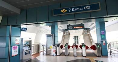 Damai LRT Station - Concourse level faregates