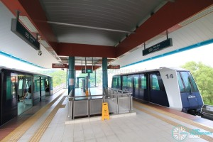 Sam Kee LRT Station - Platform level