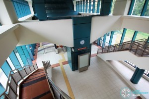 Sam Kee LRT Station - Staircase to ground level