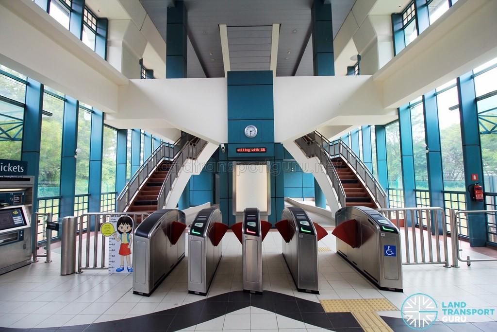 Sam Kee LRT Station - Ground level faregates (Unpaid area)