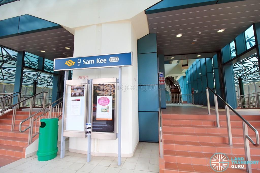 Sam Kee LRT Station - Entrance & Exit