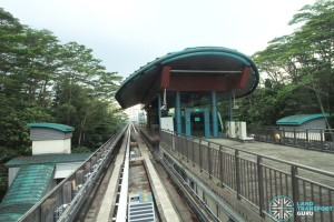 View of Teck Lee station from an LRT train